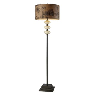 Brantley Cream Postcard Shade Floor Lamp
