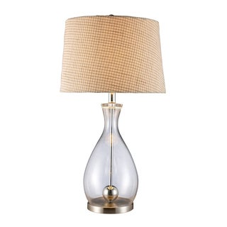 Longport Glass and Chrome Table Lamp