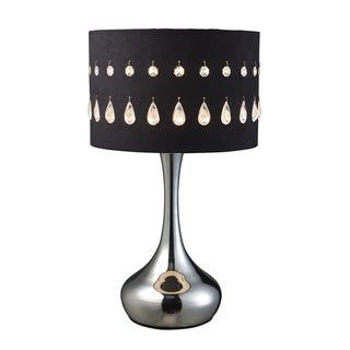 Jubilee 1-light Chrome Table Lamp with Black Laser Cut Shade
