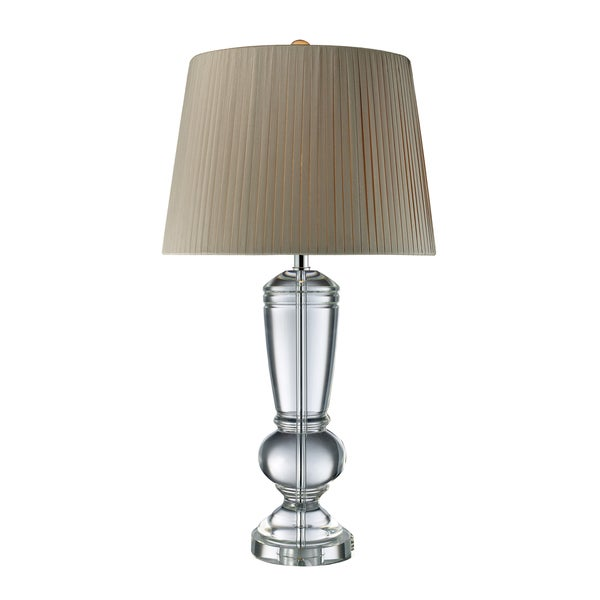 Castlebridge 1-light Clear Crystal Table Lamp