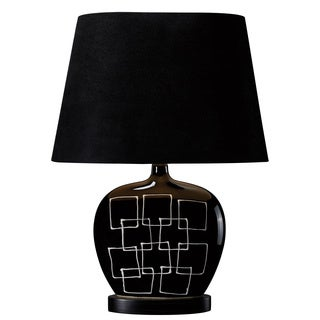 Capelle 1-light Gloss Black Table Lamp