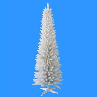 6-foot 320-tips Pencil White Tree