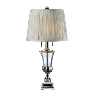 Bunting 2-light Crystal and Polished Nickel Table Lamp
