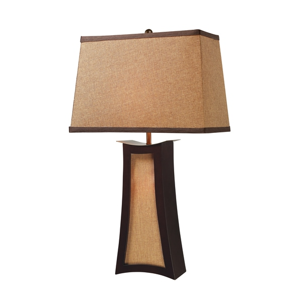 Convergence 2-light Wood Table Lamp