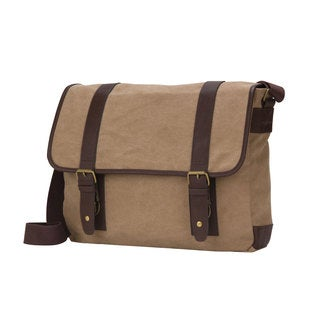American Casual Collection 16-inch Flap Over Canvas Messenger Bag