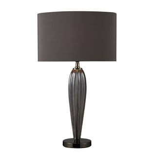 Carmichael 1-light Smoked Glass and Black Nicket Table Lamp