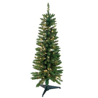 4-foot 168-tip Pre-Lit Green Pencil Tree with 100 UL Lights