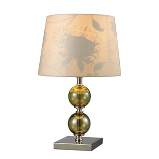 Sharon Hill Glass and Polished Nickel Table Lamp