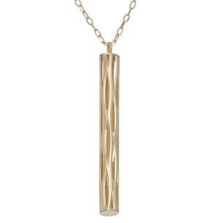 Gioelli 14k Yellow Gold Diamond-cut Stick Necklace
