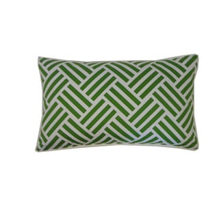 12 x 20-inch Green and Navy Tribal Stripe Throw Pillow