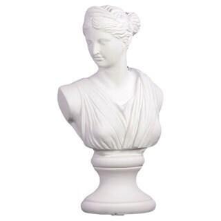 White Cement Woman Statue