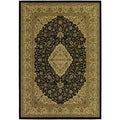 Izmir All Over Heriz/ Black Area Rug (3'11 x 5'3)