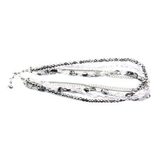 Pink and Gray Quartz Multi-strand Necklace (China)