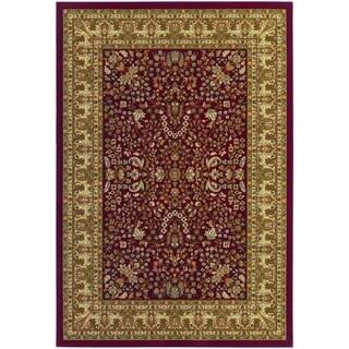 Izmir Floral Mashhad/ Red Area Rug (3'11 x 5'3)