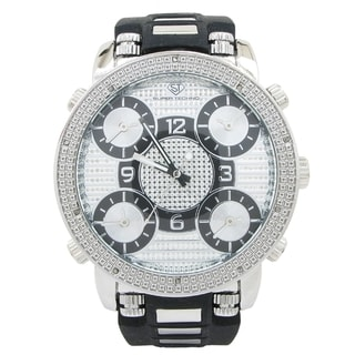 Super Techno Men's Stainless Steel Diamond Watch