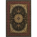Izmir Royal Kashan/ Black Area Rug (5'3 x 7'6)