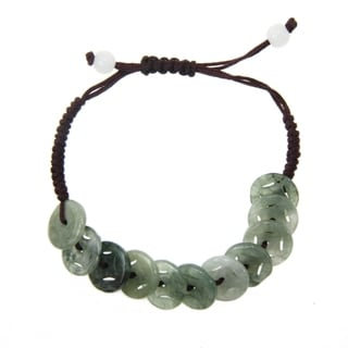 Green Jade Chinese Coin Bracelet (China)