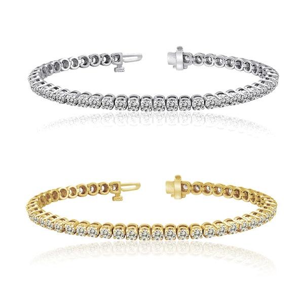 Auriya 14k Gold 1 to 12ct TDW Diamond Tennis Bracelet (H-I, I1-I2)