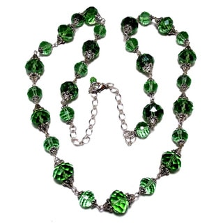 36 inch Chrysolite Green crystal wedding jewelry