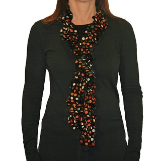 Multi-Colored Dots Ruffled Scarf