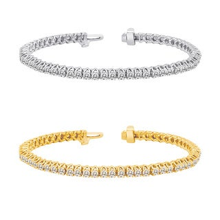 Auriya 14k Gold 2 to 10ct TDW Diamond Tennis Bracelet (H-I, I1-I2)