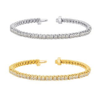 Auriya 14k Gold 2 to 10ct TDW Diamond Tennis Bracelet (J-K, I2-I3)