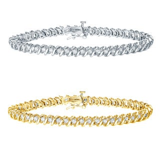 Auriya 14k Gold 1 to 10ct TDW Round Diamond Tennis Bracelet (H-I, I1-I2)