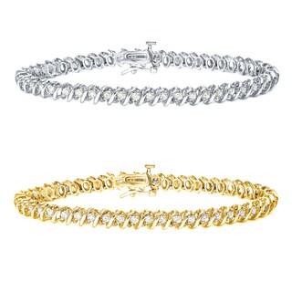 Auriya 14k Gold 1 to 10ct TDW Diamond Coiled Tennis Bracelet (J-K, I2-I3)