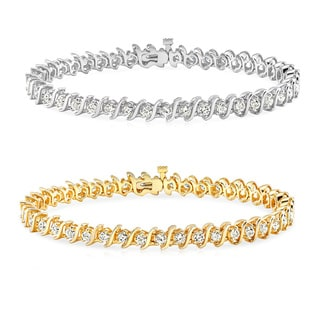 Auriya 14k Gold 1 to 10ct TDW Diamond S Link Tennis Bracelet (J-K, I2-I3)