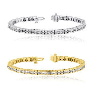 Auriya 14k Gold 3 to 10ct TDW Diamond Tennis Bracelet (H-I, I1-I2)