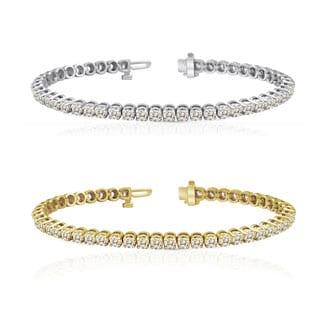 Auriya 14k Gold 1 to 12ct TDW Diamond Tennis Bracelet (J-K, I2-I3)