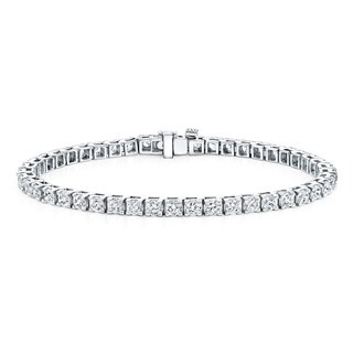 Auriya 14k Gold 2 to 12ct TDW Diamond Tennis Bracelet (H-I, I1-I2)