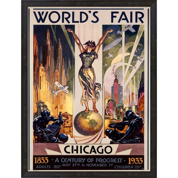 Glen C. Sheffer 'Chicago World's Fair 1933' Framed Art 11912613