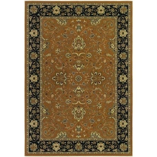 Izmir Floral Bijar/ Gold Area Rug (5'3 x 7'6)