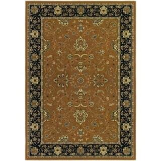 Izmir Floral Bijar/ Gold Area Rug (3'11 x 5'3)