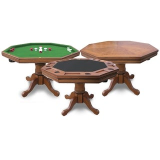 Hathaway Kingston Dark Oak 3-in-1 Poker Table