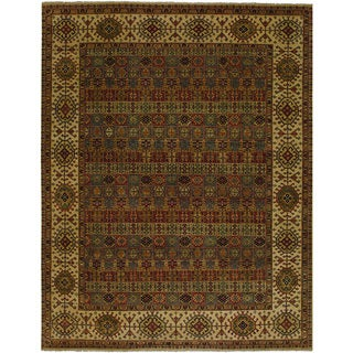 Jangali Arabesque Tile/Multi-Cream Area Rug (5'6 x 8'9)