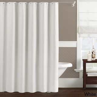 Luxury Matelasse Diamante Cotton Shower Curtain