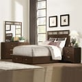 Dash Warm Espresso Storage Bedroom Set of 5