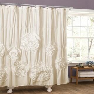 Lush Decor Serena Ruffle Trim Shower Curtain