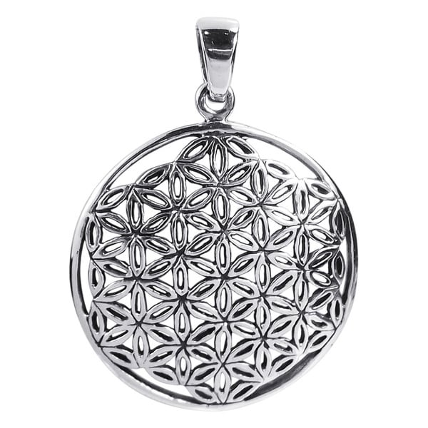 26mm Timeless Jasmine Flower of Life .925 Silver Pendant (Thailand)