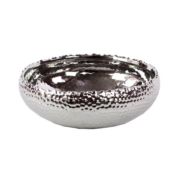 Silver Ceramic Pot