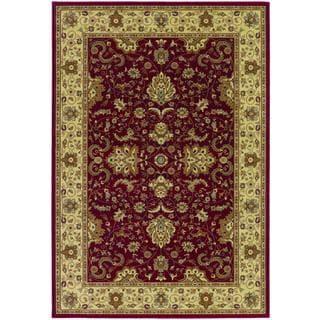Izmir Floral Bijar/ Red Area Rug (7'10 x 11'2)