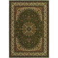 Izmir Royal Kashan/ Green Area Rug (5'3 x 7'6)