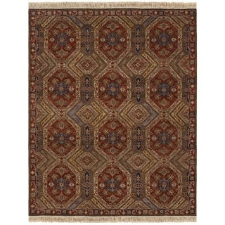 Jangali Antique Meshad/ Mocha-Rust Area Rug (5'6 x 8'9)