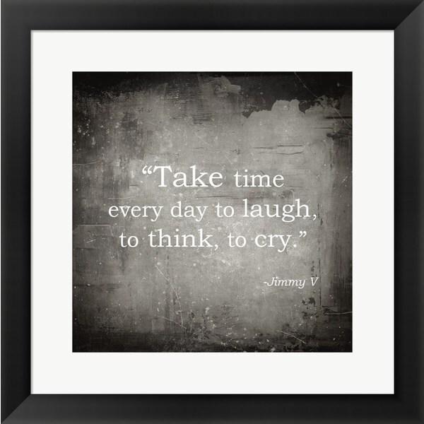 'Take Time, Jimmy V Quote' Framed Art