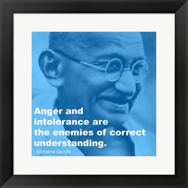 'Gandhi - Intolerance Quote' Framed Art