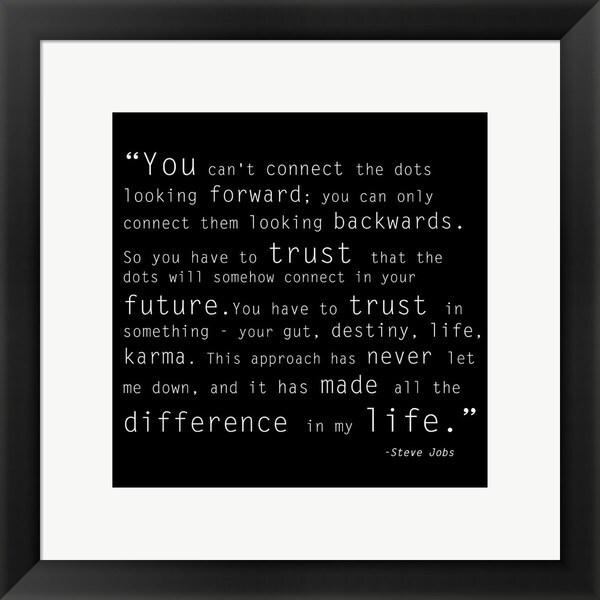 'Trust Quote' Framed Art