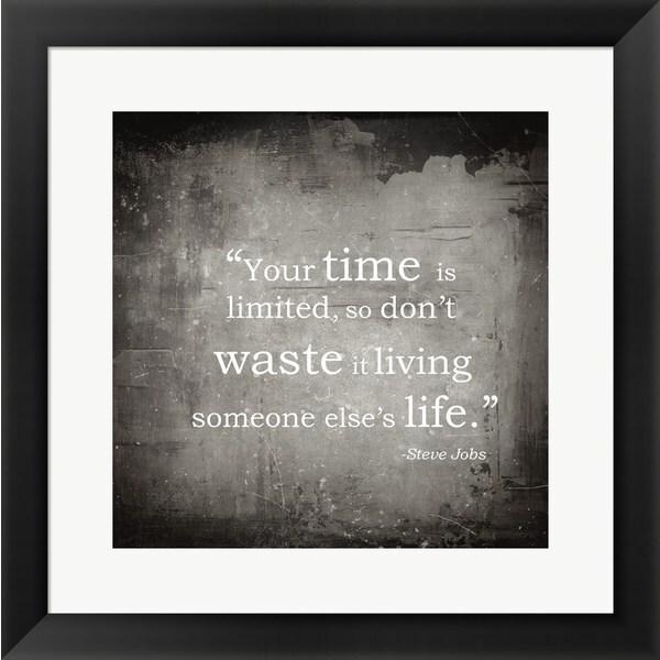 'Time is Limited' Framed Art
