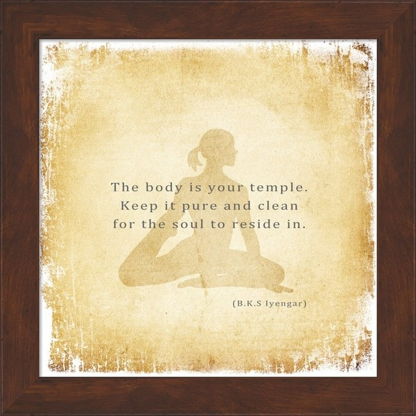'The Body is Your Temple' Framed Art
